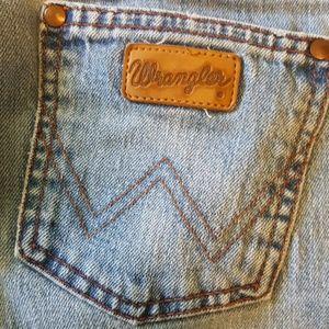 Pink stitched premium Wranglers